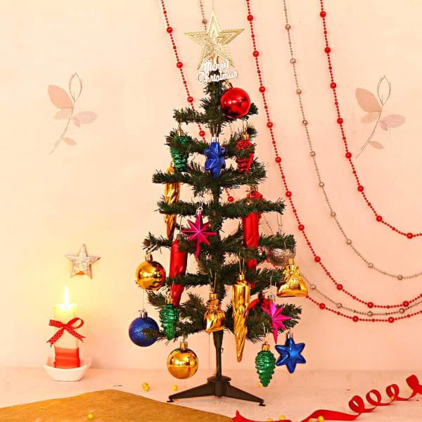 Big Foldable Christmas Tree with Decorative Hangings