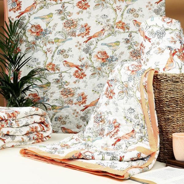 Bird Prints Cotton Double Quilt