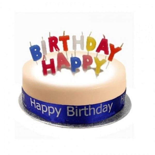 Birthday Cake Sponge Blue
