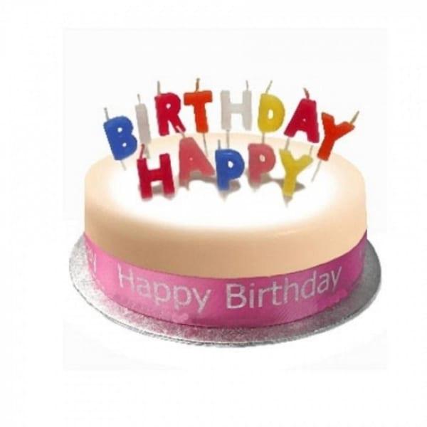 Birthday Cake Sponge Pink