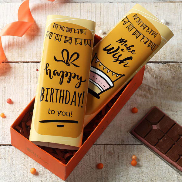 Birthday Chocolates with Customized Wrappers in Tray