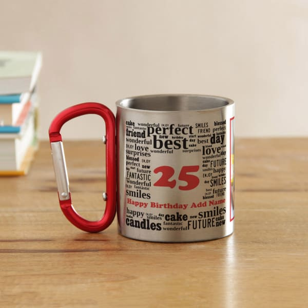 Birthday Collage Personalized Steel Mug