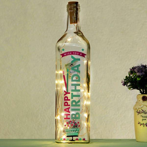 Birthday Theme Personalized LED Bottle