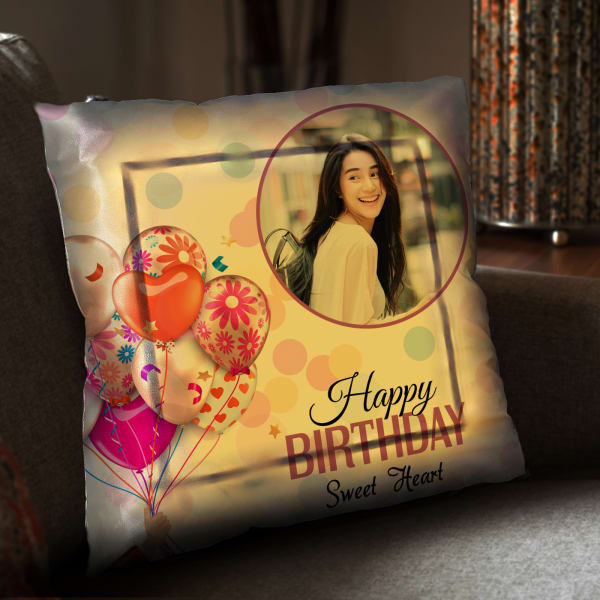 Birthday Themed Personalized LED Cushion