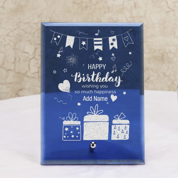 Birthday Wishes Personalized Crystal Frame