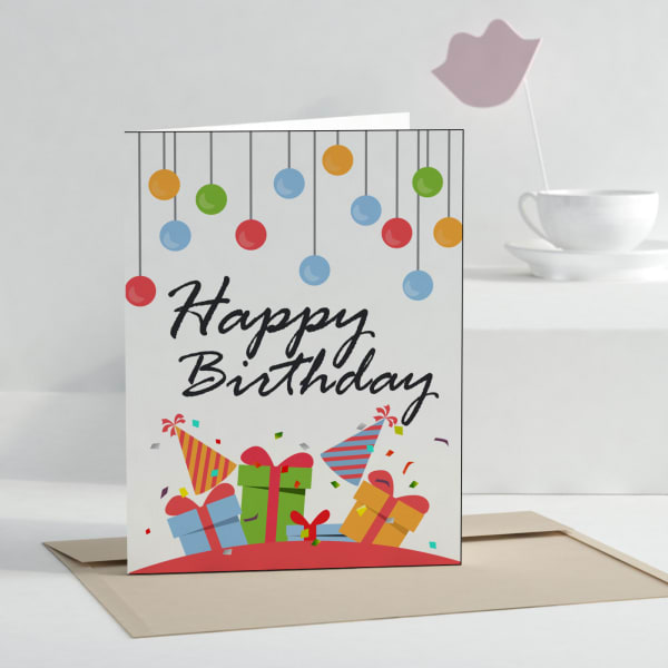 Birthday Wishes Personalized Greeting Card
