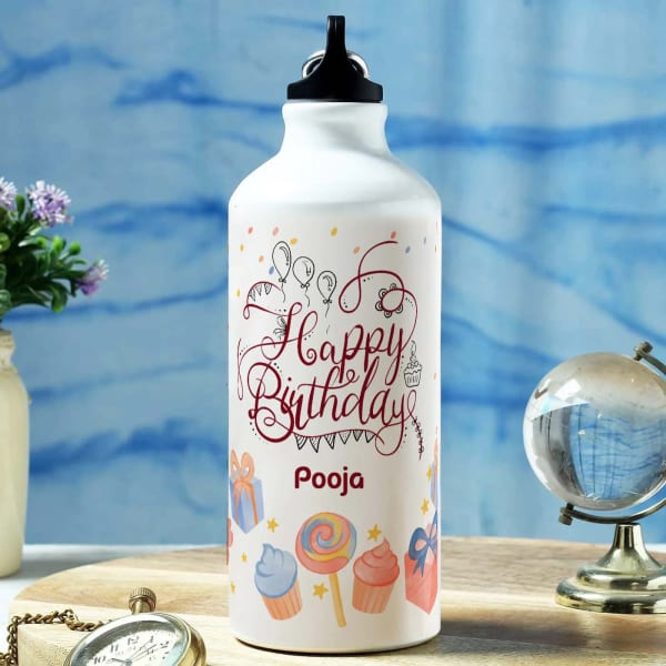 Birthday Wishes Personalized Sipper Water Bottle