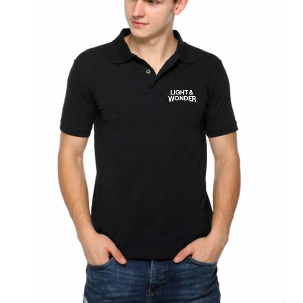 Black Fastee Polo Tshirt