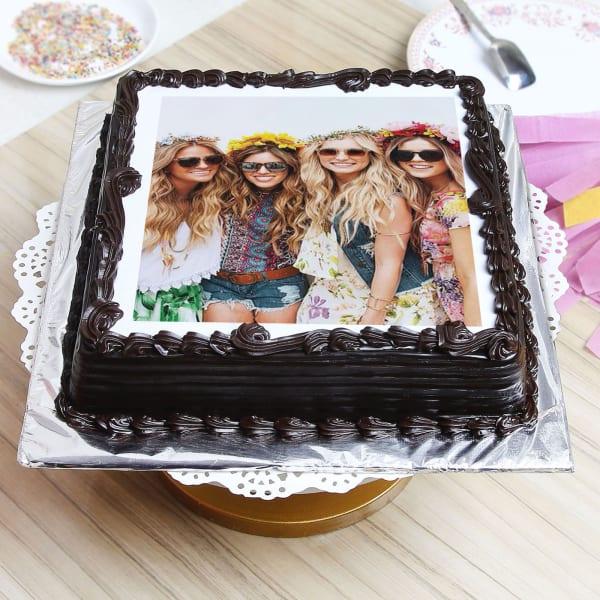 Black Forest Personalised Photo Cake (2 Kg)