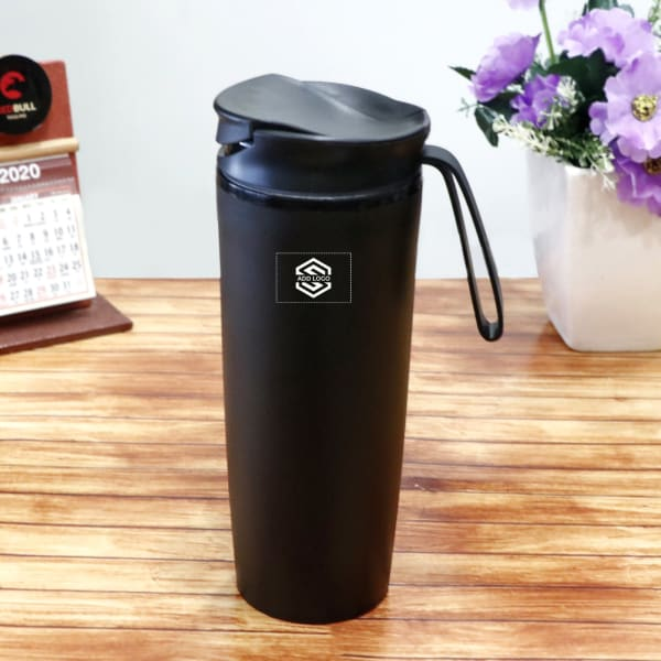 Black Sipper Bottle - Customized with Logo