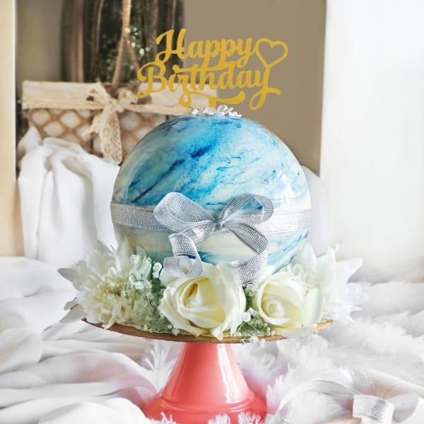 Blue Chocolate Pinata Ball Cake for Birthday (750 Grams)