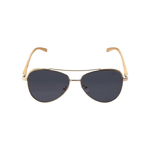 Bold Black Aviator Sunglasses