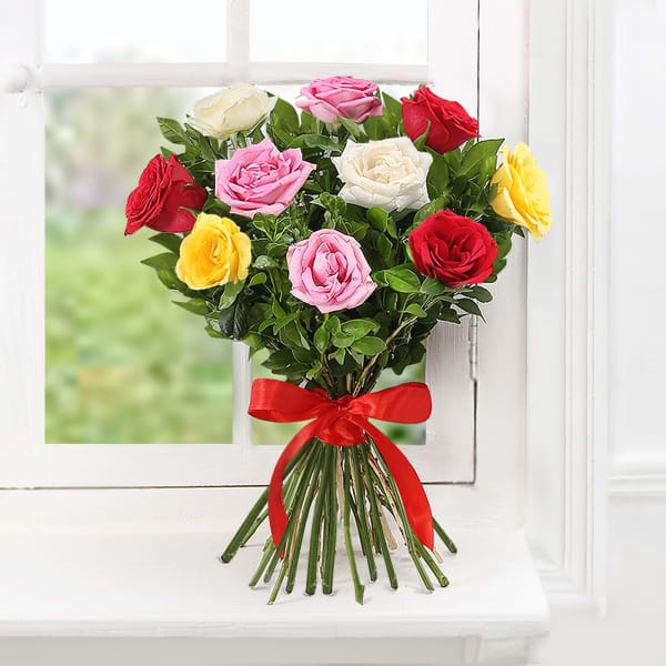 Bouquet 10 Mix Colored Roses