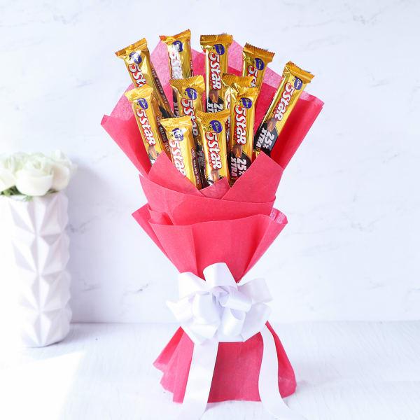 Bouquet of 10 Cadbury Five Star