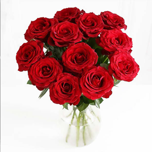 Bouquet of 12 Red Roses for your Loved One