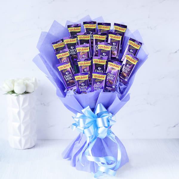 Bouquet of 20 Cadbury Dairy Milk Chocolates
