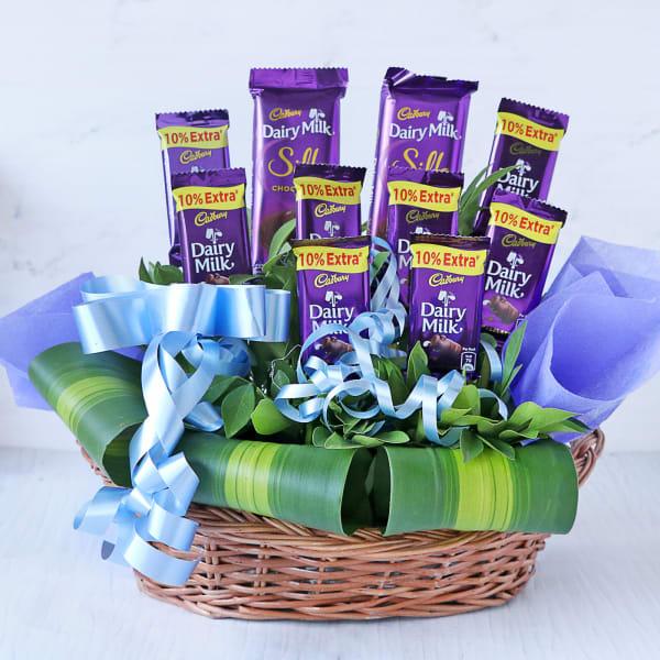 Bouquet of Cadbury Dairy Milk & Silk Bars