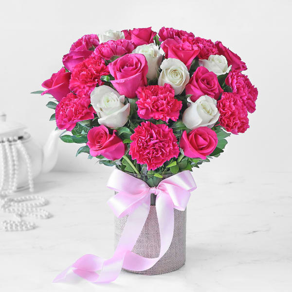 Bouquet of Rose and Carnations