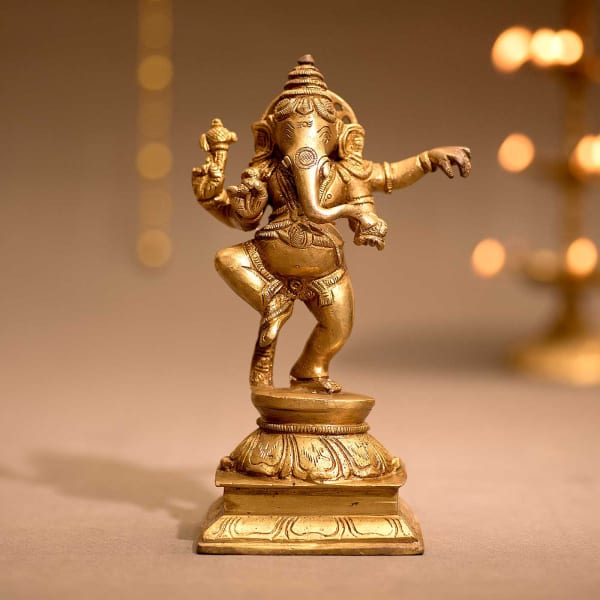 28272069702f Brass Dancing Ganesha Idol  Gift Send Home and Living Gifts Online ...