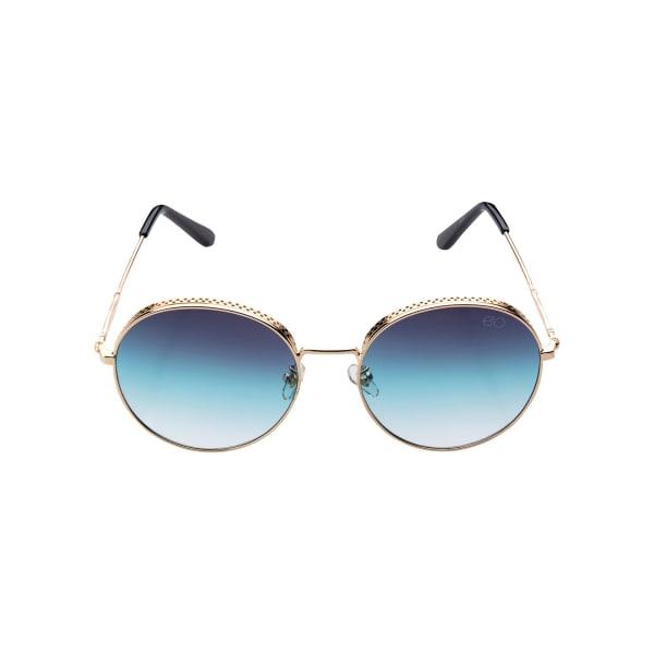Brilliant Blue Round Sunglasses