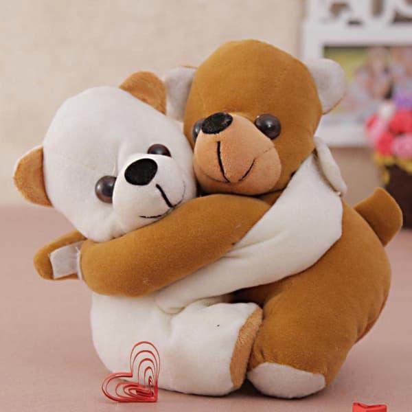 Brown &Grey Hugging Teddy Soft Toy