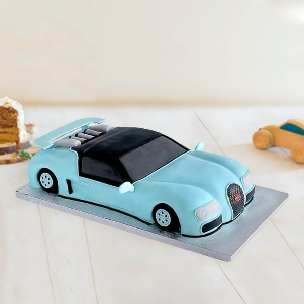Bugatti Car Fondant Cake (2.5 Kg)