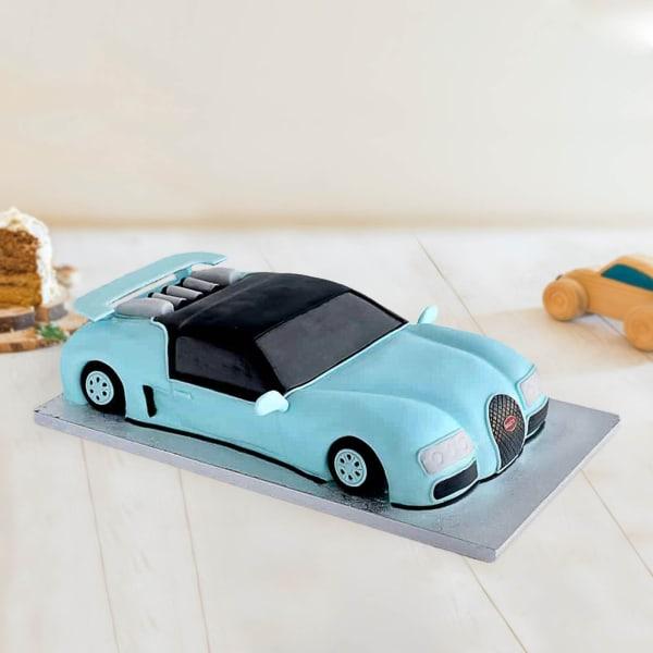 Bugatti Car Fondant Cake (3.5 Kg)