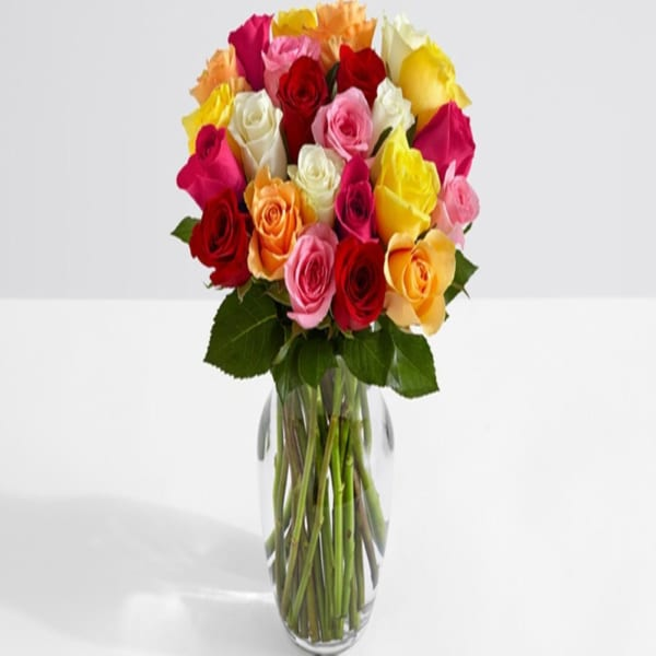 Bunch of 24 Mix Roses