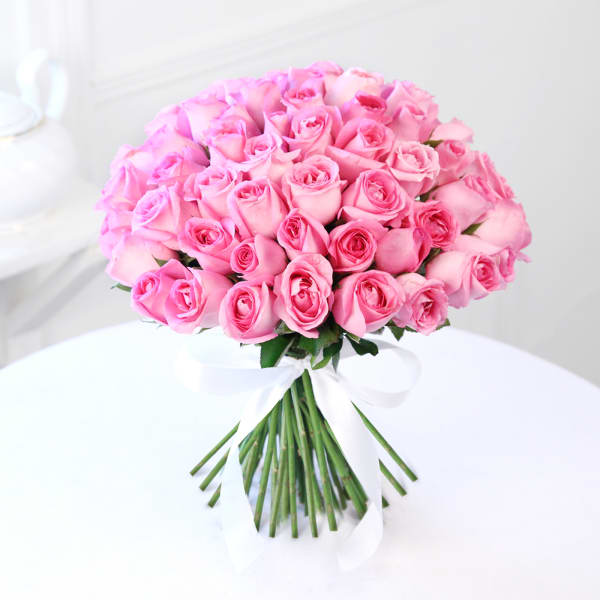 Bunch of 50 Pink Roses