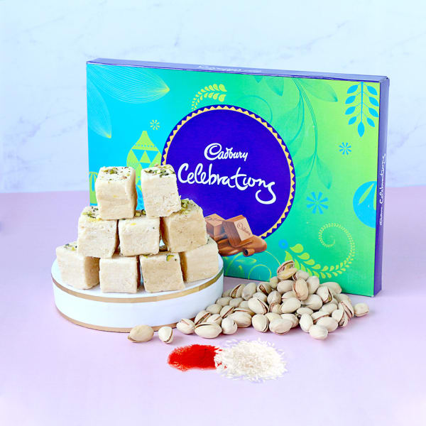 Cadbury Celebrations with Soan Papdi & Pistachios