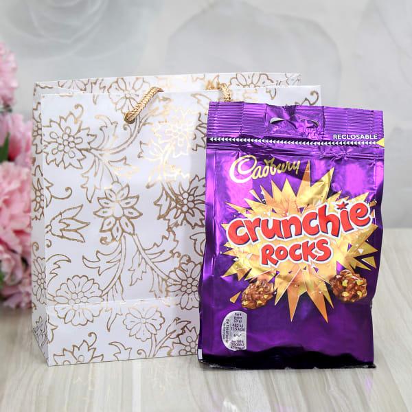 Cadbury Crunchie Rocks With Makeup Kit In Goodie Bag Gift Send