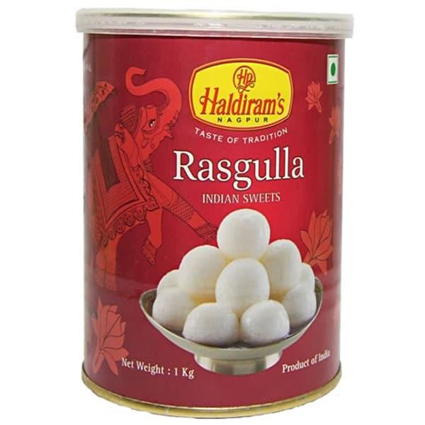 Can of Haldirams Rasgulla