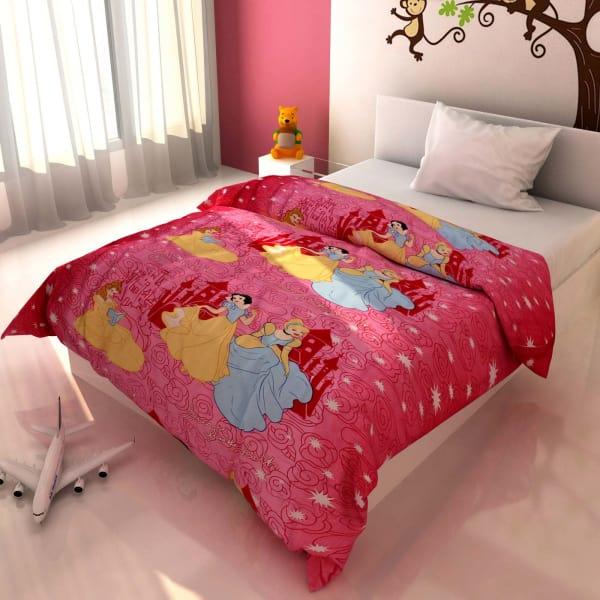 Cartoon Princess Print Kids Blanket