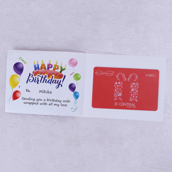 Central Personalized Birthday Gift Card 1001