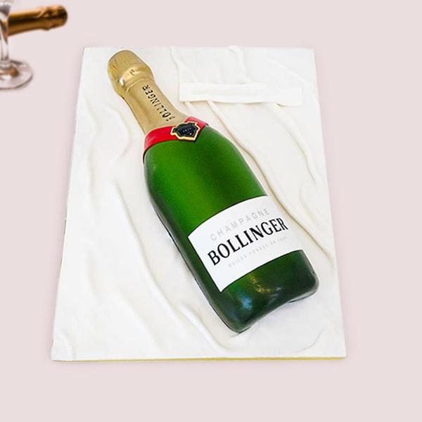 Champagne Fondant Cake (2.5 Kg)