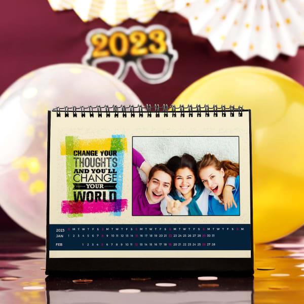 Change Your World Personalized Desk Calendar