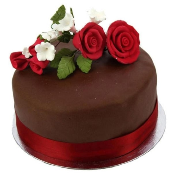Chocolate Rose 10 inches Cake