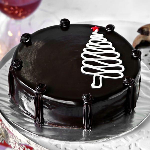 Christmas Chocolate Cake (Half Kg)