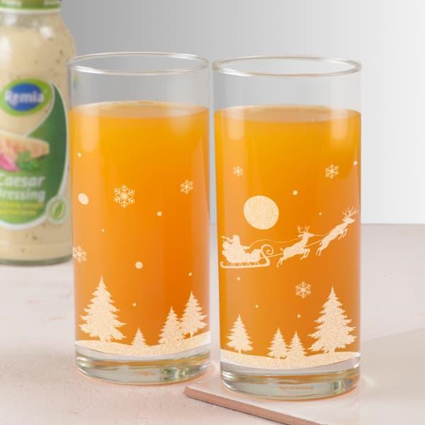 Christmas Design Juice Glasses