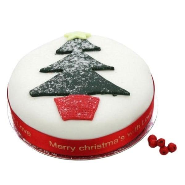 Christmas Tree Fruit 6 inches Cake