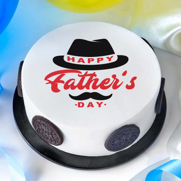 Classic Happy Father's Day Poster Cake (Half Kg)