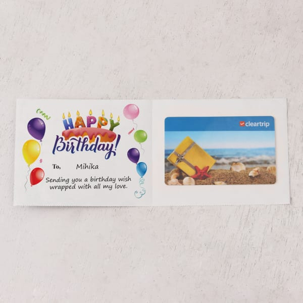 Cleartrip 5000 INR Personalized Birthday Gift Card
