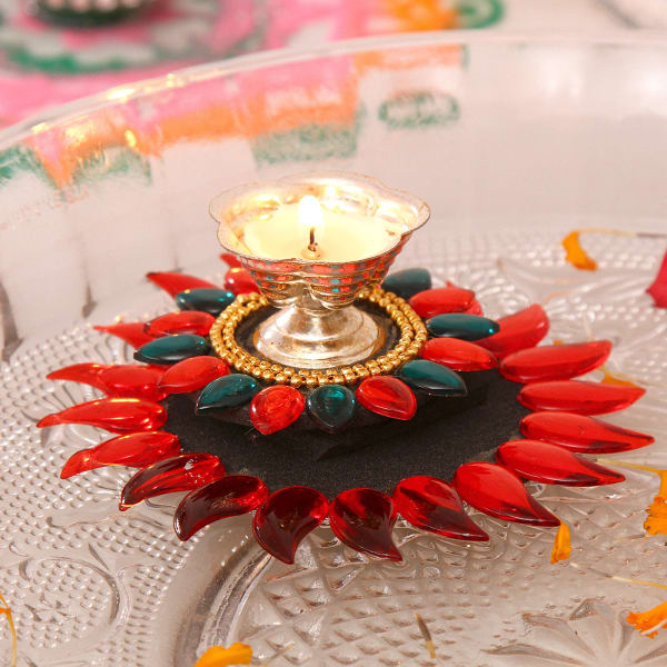 Colorful Floating Diya