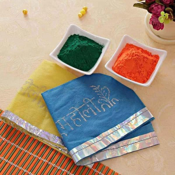 Colorful Holi Caps with Gulal