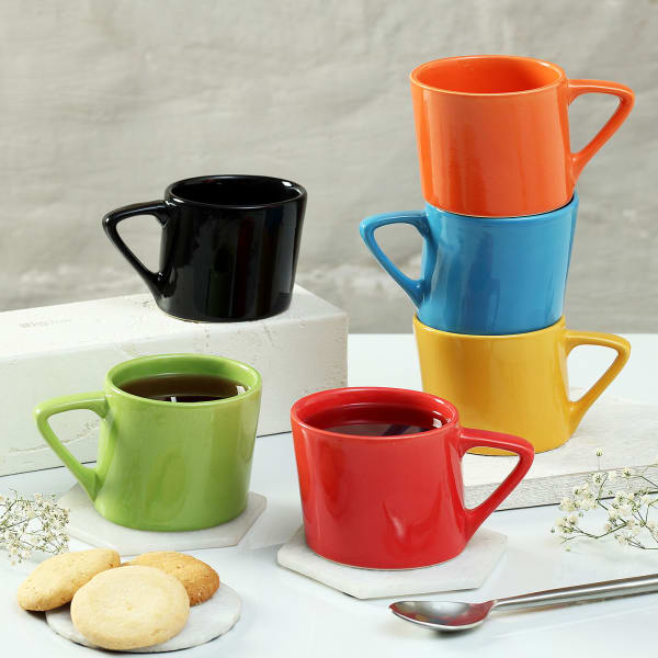 Colorful Inclined Cups (Set of 6)