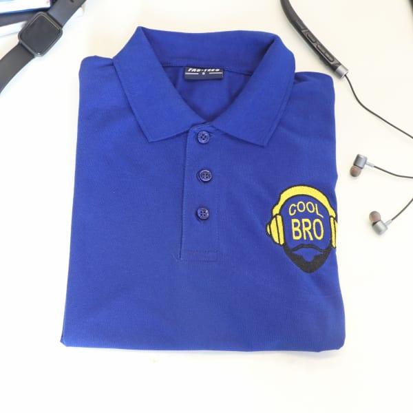 Cool Bro Polo T-Shirt For Men - Royal Blue