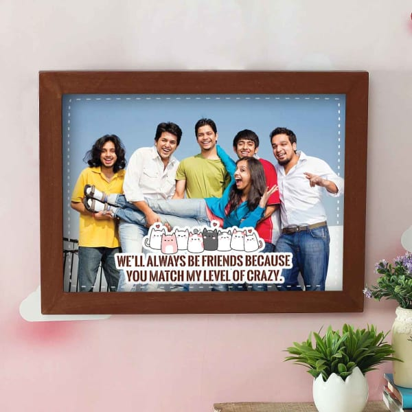 Crazy Friends Personalized Photo Frame