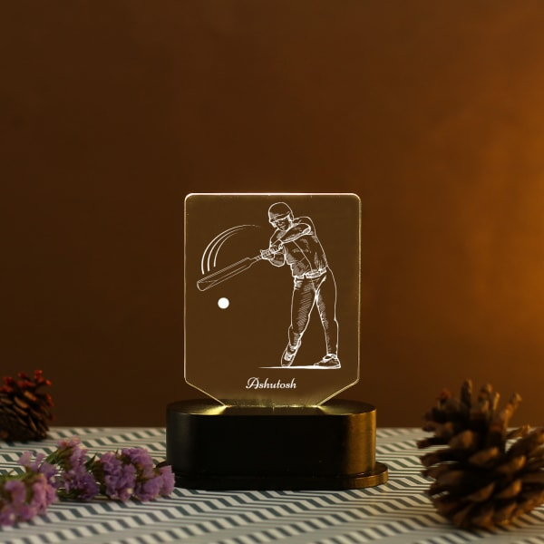Cricket Lover Personalized LED Lamp