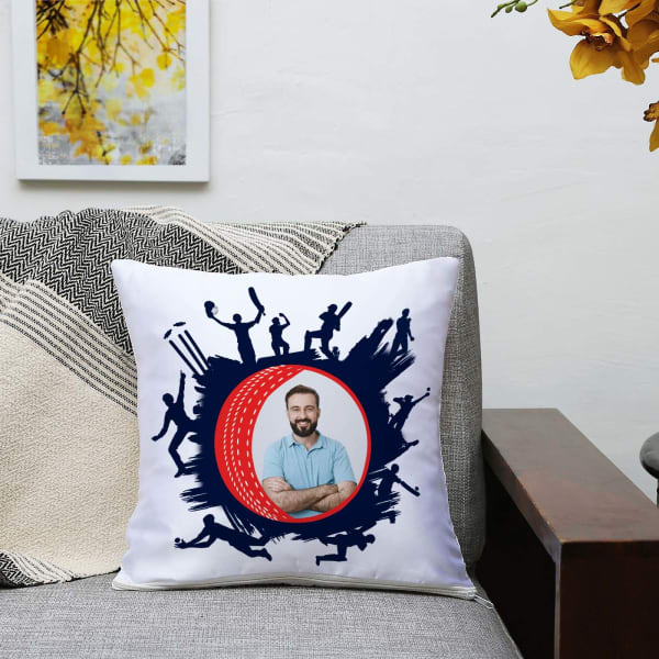 Cricket Lover Personalized Satin Cushion
