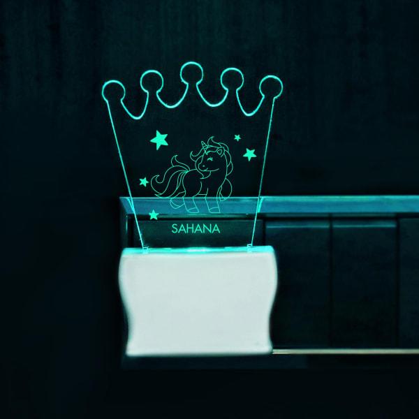 Crown Shape Unicorn Decorative LED Lamp